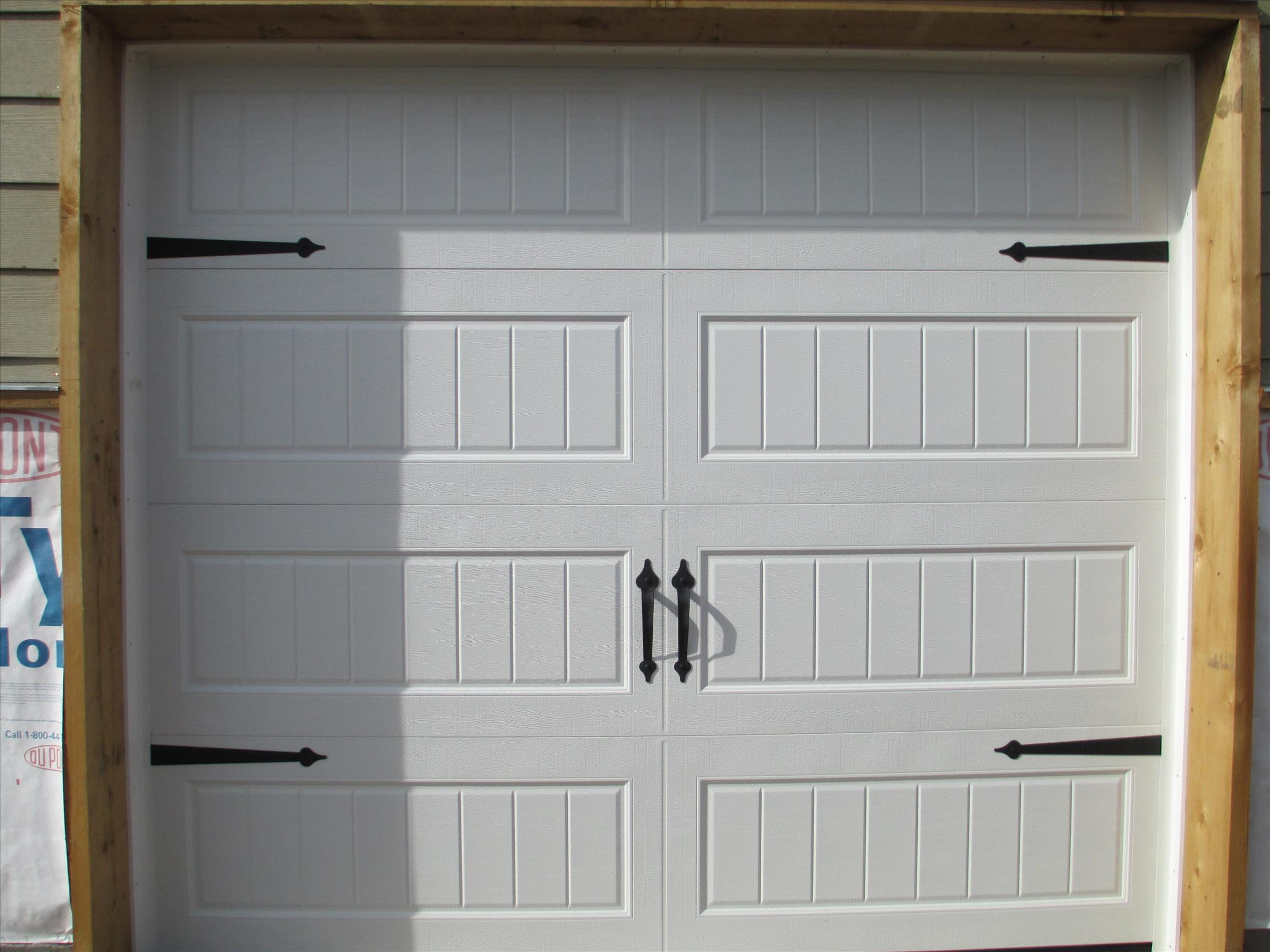 garage door handles and accents