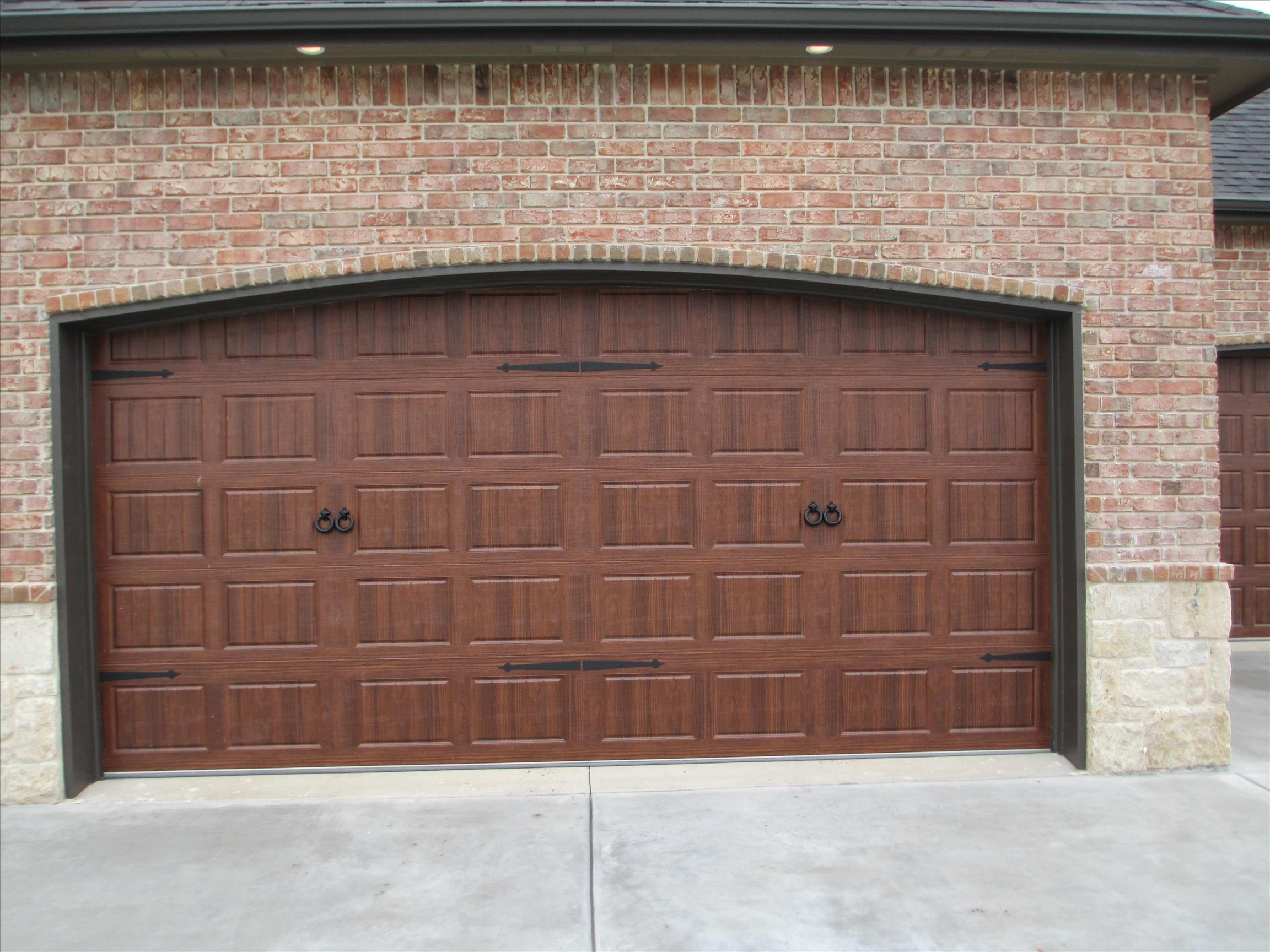 custom garage door handles