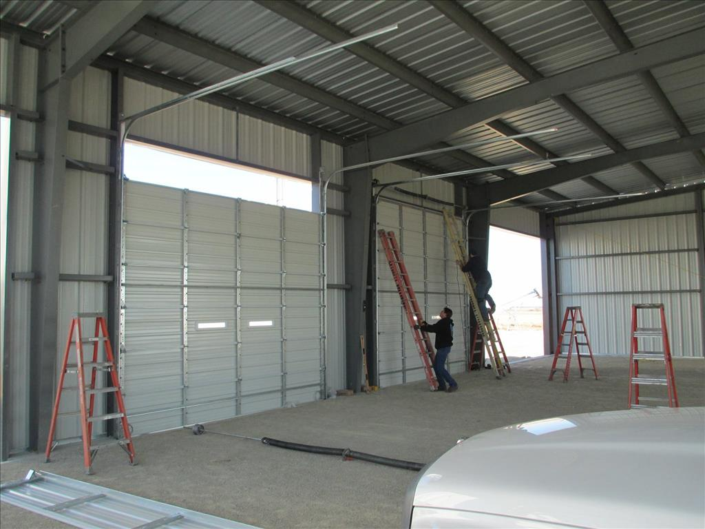 commercial shop garage door installation